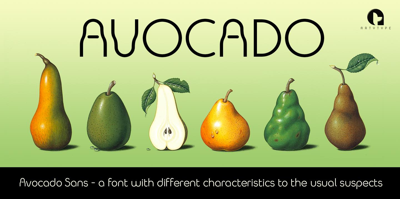 Avocado Sans banner 3