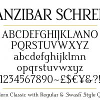 Sanzibar-Schreef-set