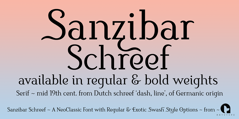 Sanzibar Schreef text